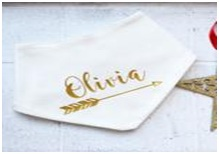 3. Personalised Baby Christening Bib