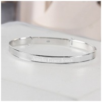 5. Sterling Silver Christening Bangle