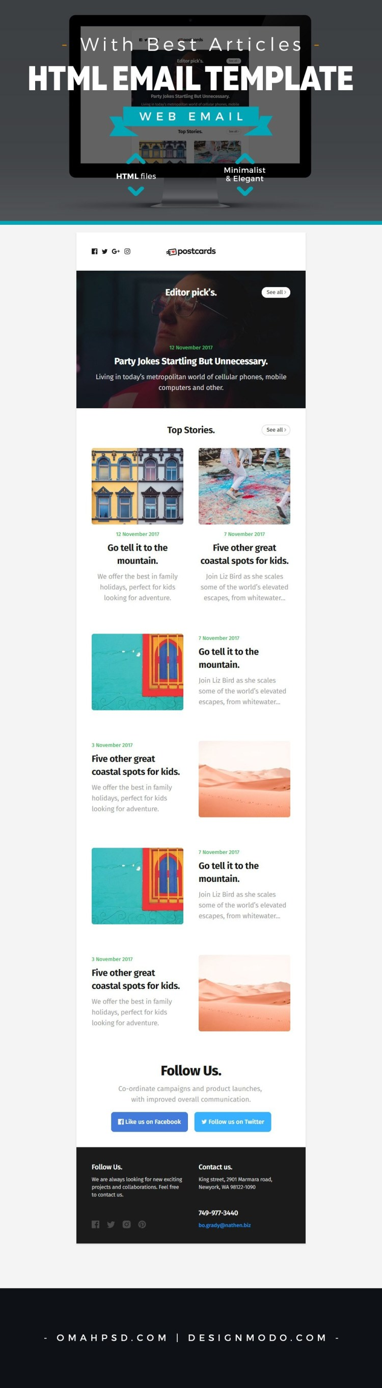free-email-template-with-best-articles